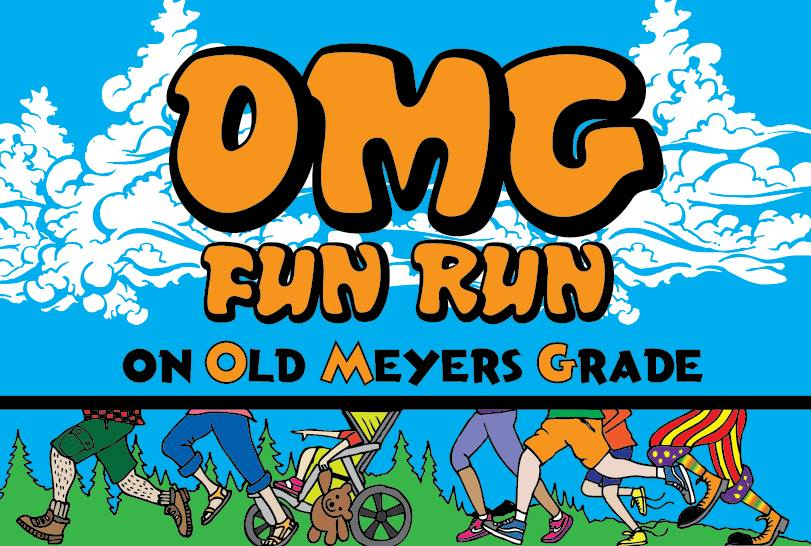 Event poster for OMG Fun Run 2018
