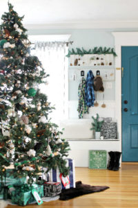 Crown molding adds to the holiday trim