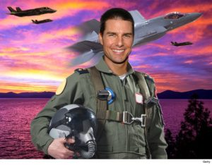 Tom Cruise shooting Top Gun: Maverick