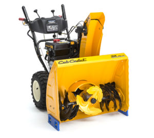 Example of an auger snowblower