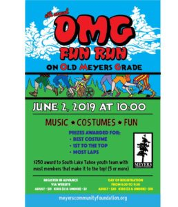 Poster for the OMG Old Meyers Grade Fun Run 2019