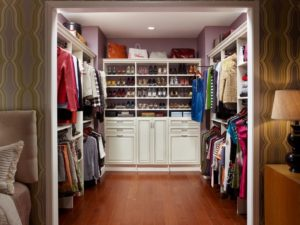 Former bedroom converted into a beautiful closet