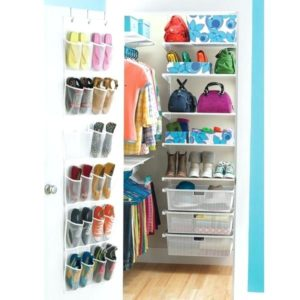 Nicely organized small closet