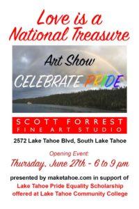 Art Show Celebrate Pride poster