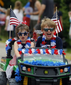 Kids on Parade for 4th of July