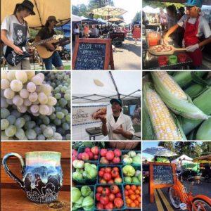 Collage of photos taken at Ski Run Farmer's Markets in 2018.
