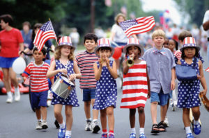 Kids love a patriotic parade