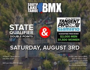 BMX state qualifier at Bijou Park in beautiful Tahoe