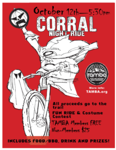 Corral Night Ride event poster
