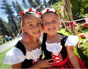 Adorable little girls at Camp Richardson Oktoberfest
