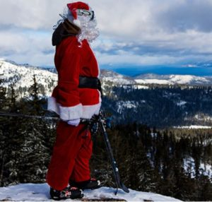 Santa on the slopes at Sierra Ski Resort