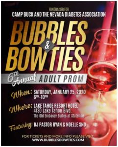 bubbles and bowties PROM poster