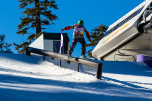 Rail Jam Competition at Sierra Ski Resort