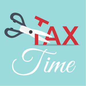 Scissors cutting Tax