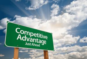 """Sign """"Competitve Advantage just ahead"""""""